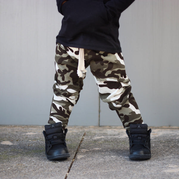 Olive Camo French Terry Joggers