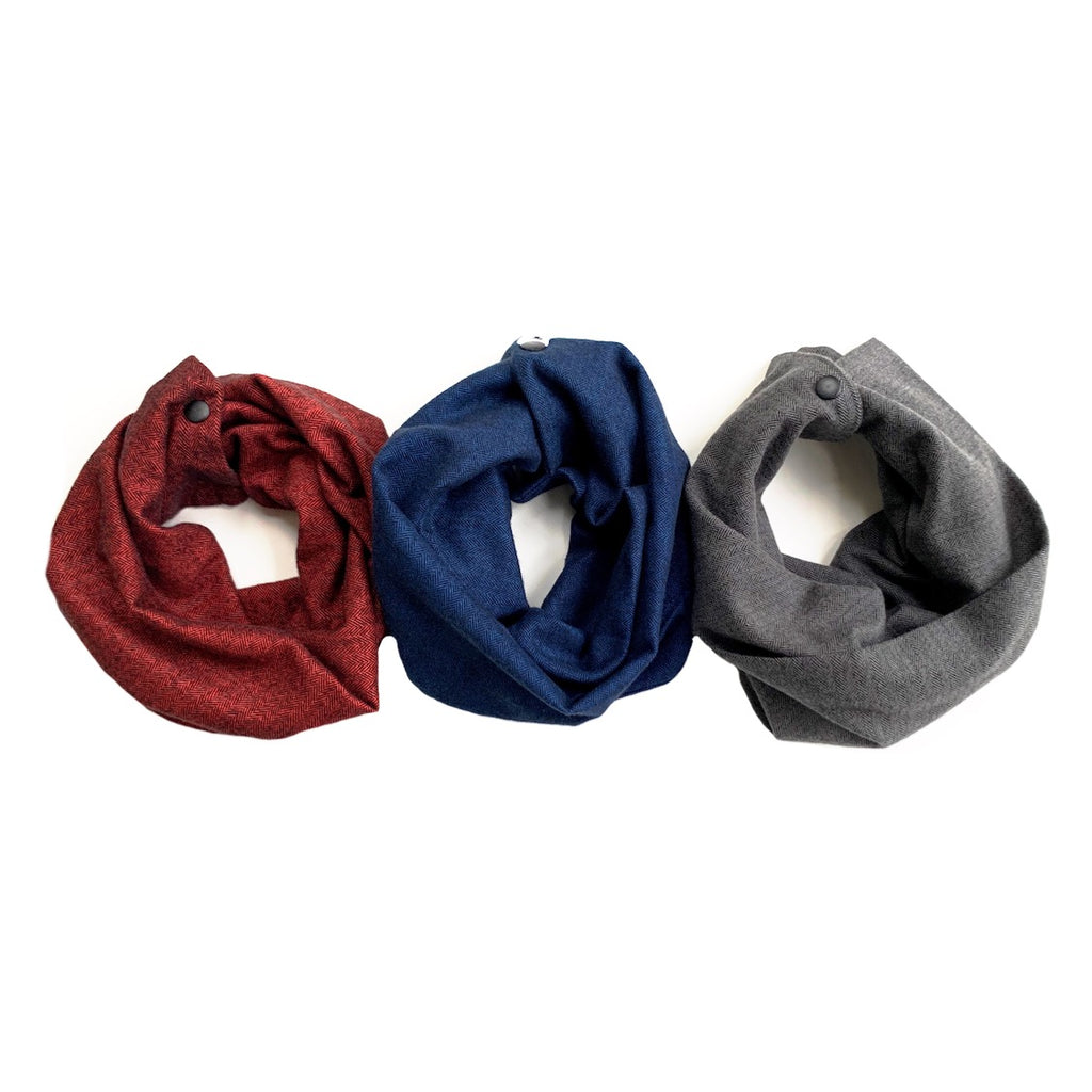 Herringbone Flannel Infant/Toddler/Child Infinity Scarf