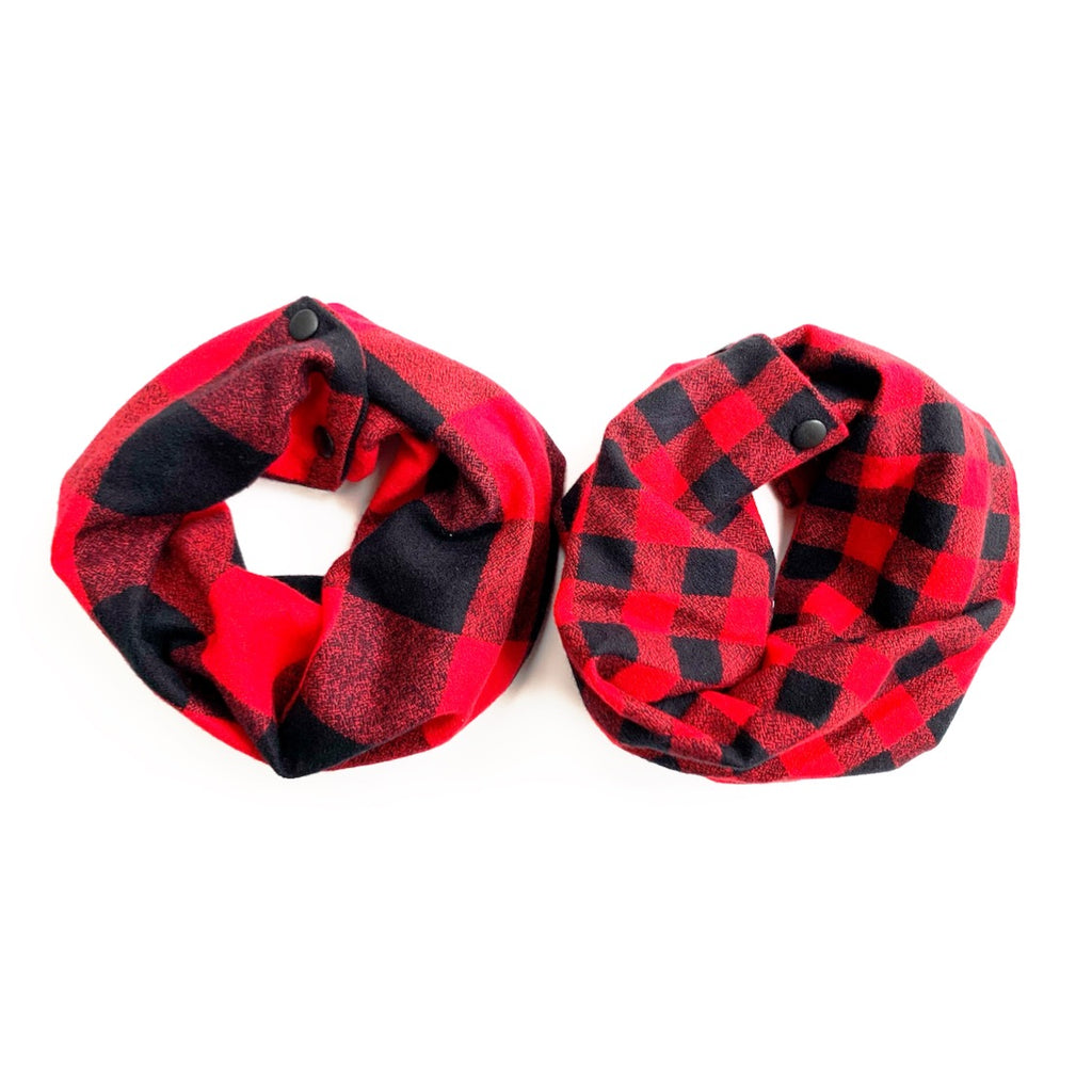 Red Buffalo Plaid Infant/Toddler/Child Infinity Scarf