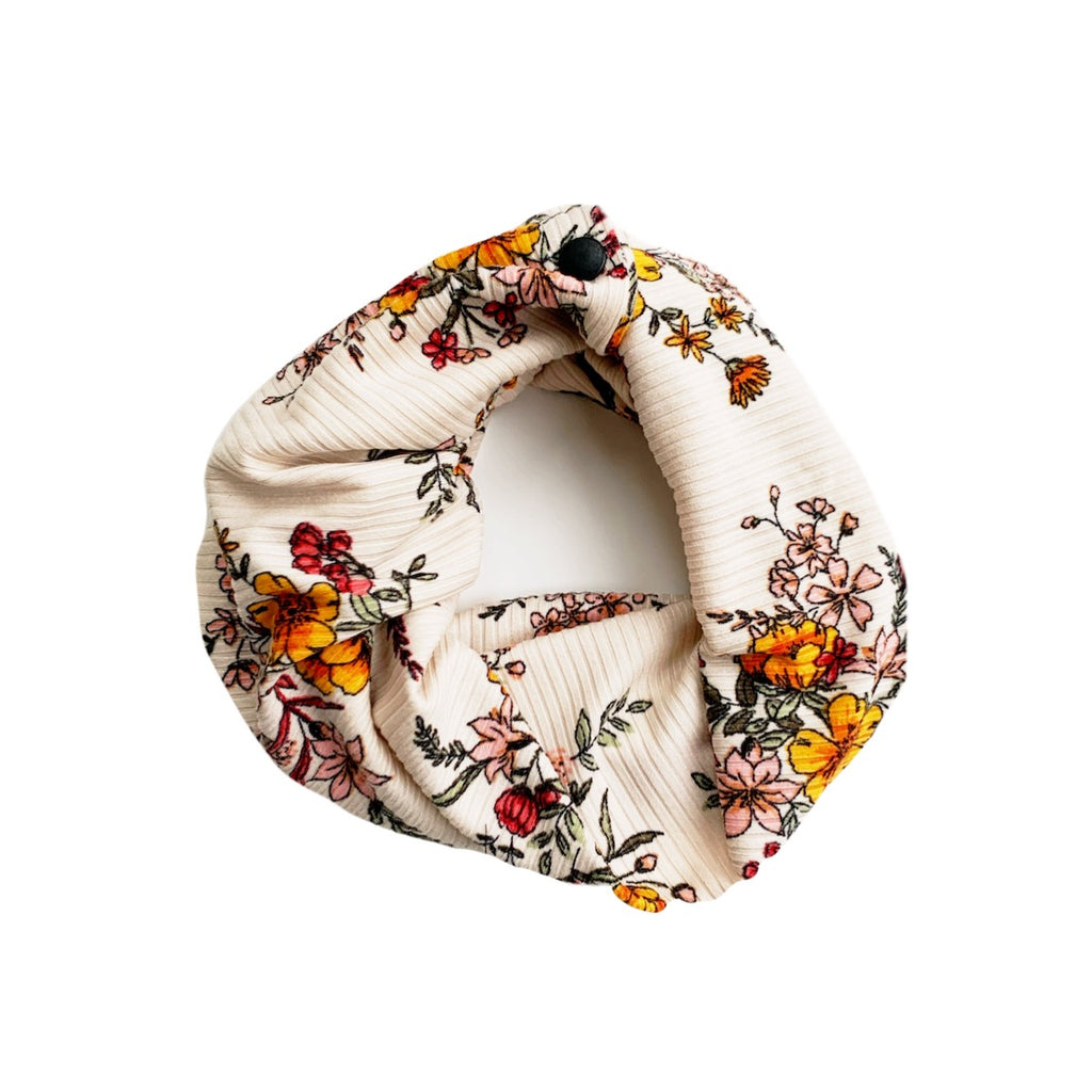 Autumn Floral Rib Infant/Toddler/Child Infinity Scarf