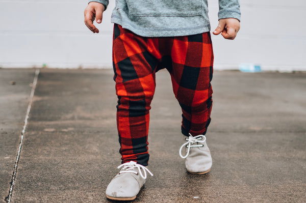 Red Buffalo Plaid Jacquard Harem Pants