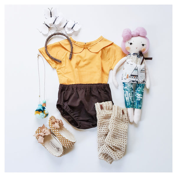 Chocolate Knit Bloomers