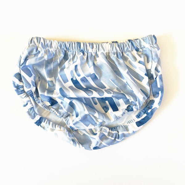 Blue Watercolor Knit Bloomers