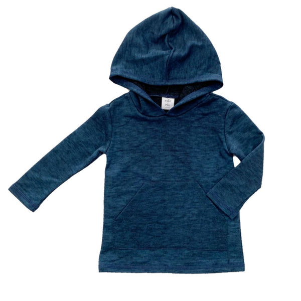 Dark Teal Long Sleeve Pocket Hoodie