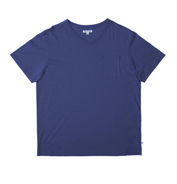 The Slub V T-shirt - Blue