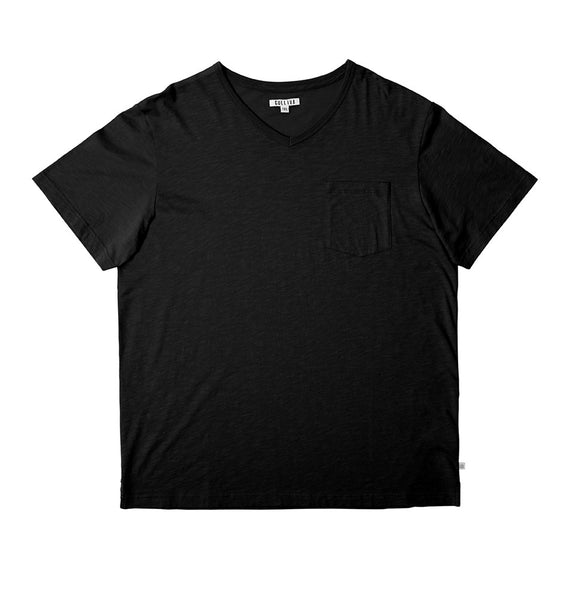 The Slub V T-shirt - Black