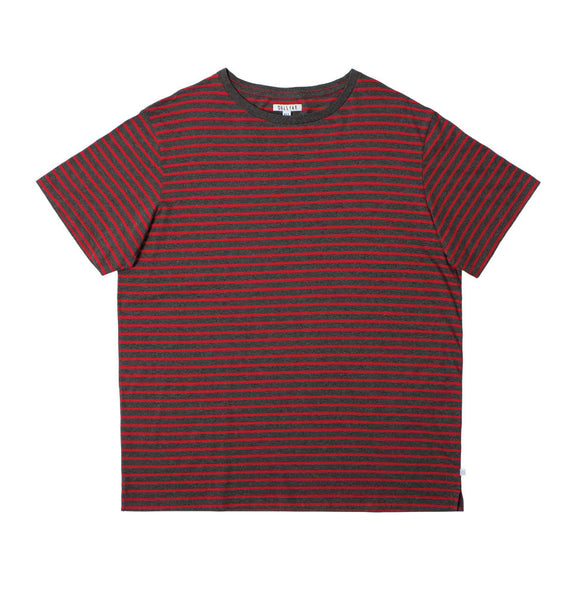 The Red Line T-Shirt - Grey & Red