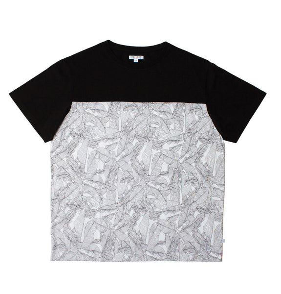 Mr Palm Block T-Shirt - Black & White