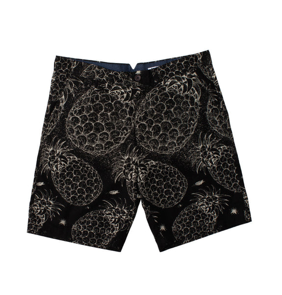 Planet Pineapple Chino Short - Black