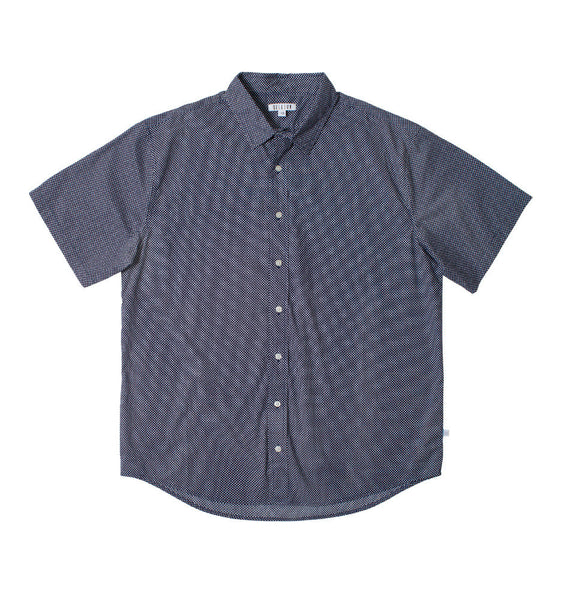 Mr Navy Dot Short Sleeve Shirt