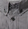 Black Gingham Check Shirt Collar