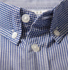 Blue Gingham Check Shirt Collar
