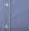 Blue Gingham Check Shirt Detail