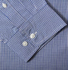 Blue Gingham Check Shirt Sleeve