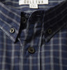Blue Checked Shirt Collar