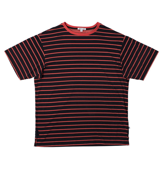 The Seasonal Stripe - Coral Red