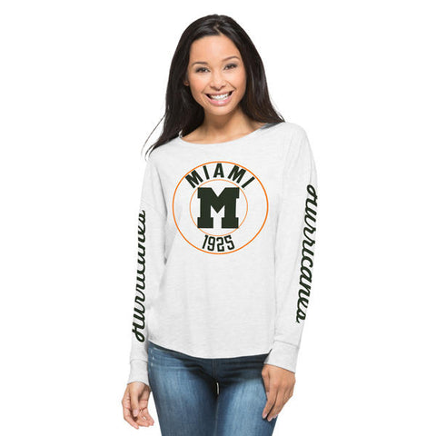 '47 University of Miami Hurricanes Cara Tee Long Sleeve