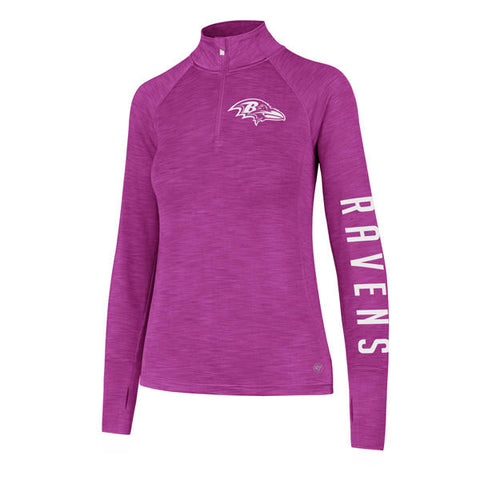 '47 Baltimore Ravens Womens Forward Shade 1/4 Zip