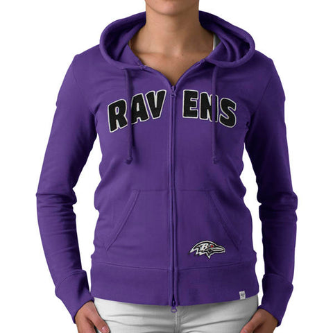 '47 Baltimore Ravens Womens Pep Rally Zip Trim