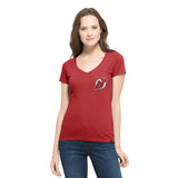 NJ Devils Clutch V - Neck Tee