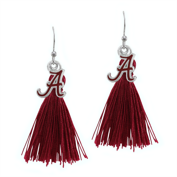 University of Alabama Crimson Tide Tassel Charm Earrings