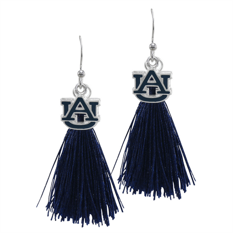Auburn Tigers Tassel Charm Earrings