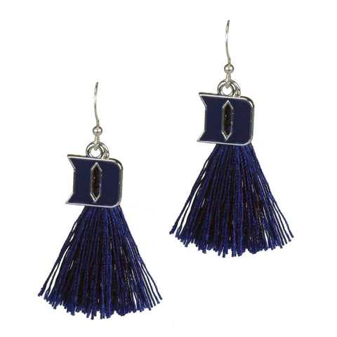 Duke Blue Devils Tassel Charm Earrings