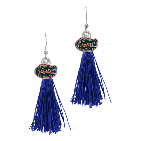 University of Florida Gators Tassel Charm Earrings