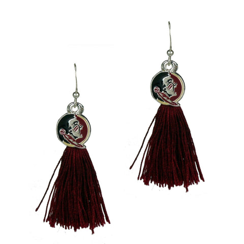 Florida State (FSU) Seminoles Tassel Charm Earrings