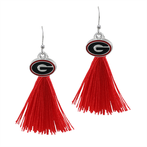 University of Georgia Bulldogs Tassel Charm Earrings