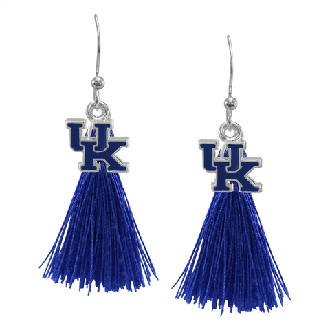 University of Kentucky Wildcats Tassel Charm Earrings