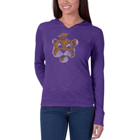 '47 LSU Tigers Bright Purple Primetime Hood Long Sleeve