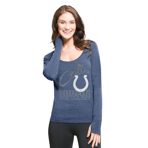 Indianapolis Colts Shift Blue Dash Long Sleeve Tee