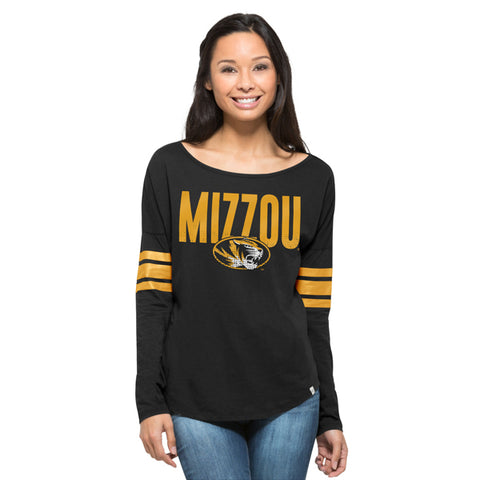 '47 University of Missouri (Mizzou) Tigers Jet Black Courtside Tee