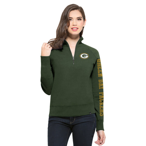 '47 Green Bay Packers Shimmer Cross Check 1/4 Zip Up
