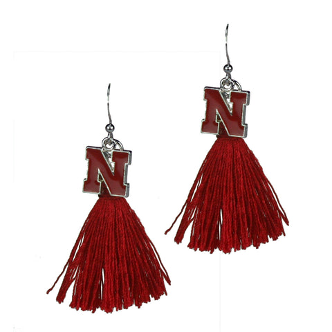 University of Nebraska Huskers Tassel Charm Earrings