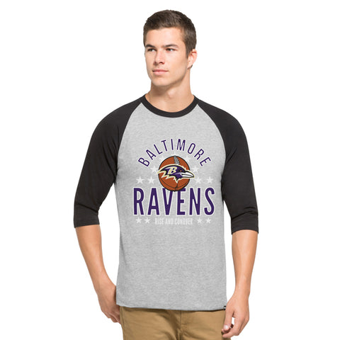 '47 Baltimore Ravens Lockdown Raglan Mens Tee