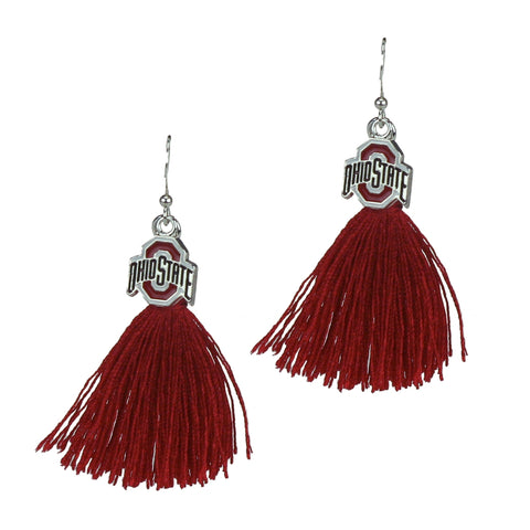 Ohio State Buckeyes Tassel Charm Earrings