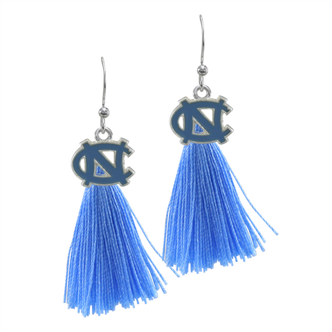 University of North Carolina (UNC) Tarheels Tassel Charm Earrings