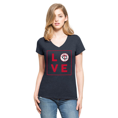 '47 Minnesota Twins Navy Club V-Neck Tee