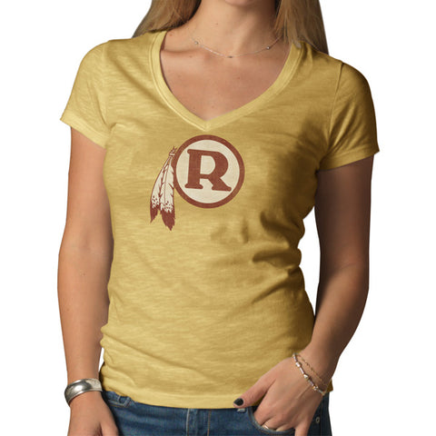 Washington Redskins Legacy Track Gold V-Neck Scrum Scoop Tee