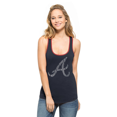 '47 Atlanta Braves Navy Clutch Tank Top