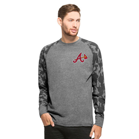 '47 Atlanta Braves Men's Tarmac Camo Raglan Long Sleeve