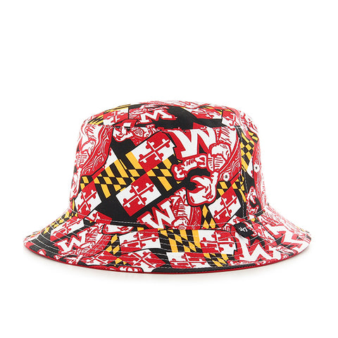 '47 University of Maryland Terrapins Vin White & Black Bravado Seven Bucket