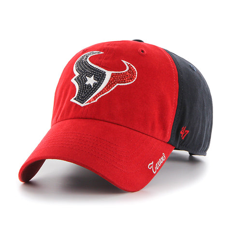 '47 Houston Texans Navy Sparkle Two Tone Clean Up Cap