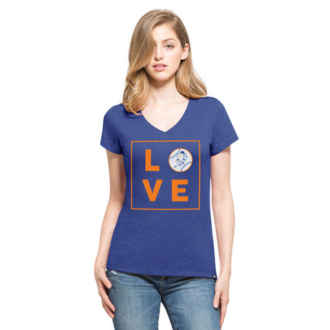 '47 New York Mets Royal Club V-Neck Tee