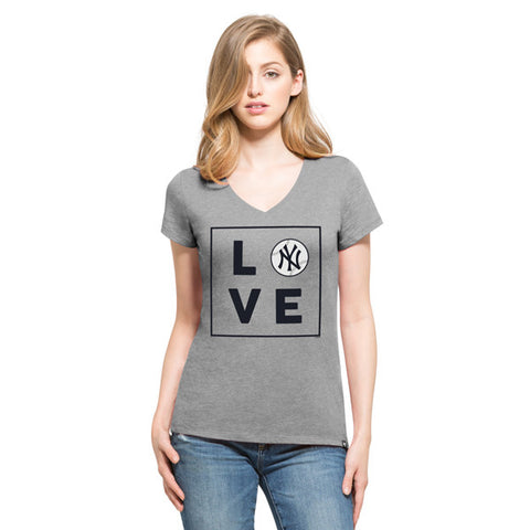'47 New York Yankees Slate Grey Club V-Neck Tee