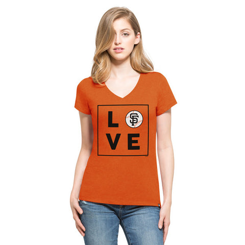 '47 San Francisco Giants Orange Club V-Neck Tee