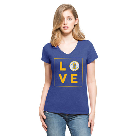 47 Seattle Mariners Royal Club V-Neck Tee