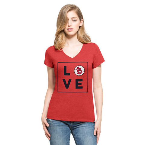 '47 St. Louis Cardinals Red Club V-Neck Tee